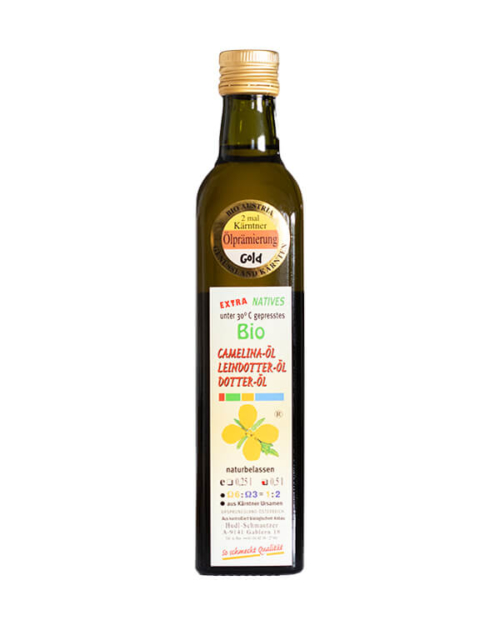 Hudl Camelina Dotter Öl Bio (Leindotteröl) 0.5 Liter - Naturkost Duschlbaur