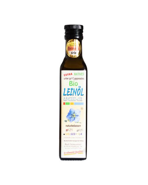 Hudl Leinöl Bio 0.25 Liter - Naturkost Duschlbaur