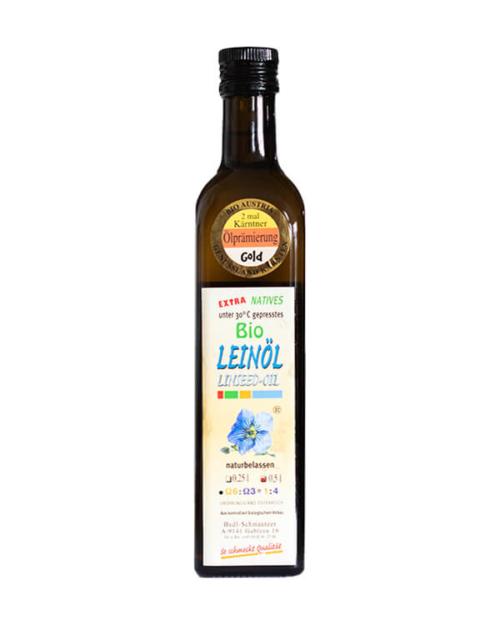Hudl Leinöl Bio 0.5 Liter - Naturkost Duschlbaur