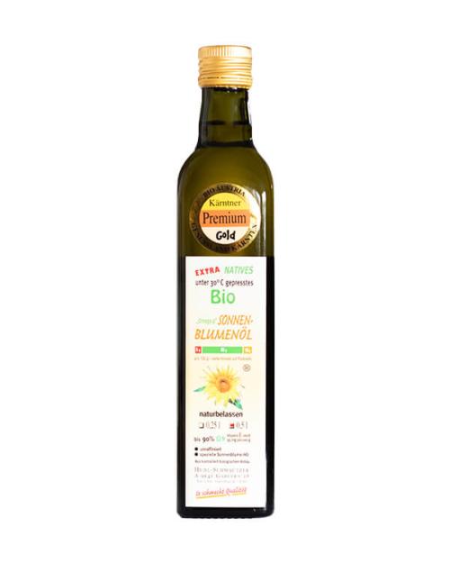 Hudl Sonnenblumenöl Bio 0.5 Liter - Naturkost Duschlbaur
